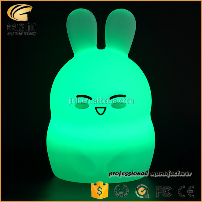 2017 New Colorful Children Night Light Silicone Table Lamp
