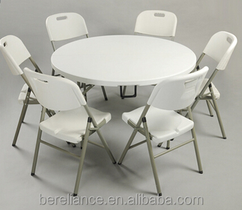 5.7FT Round Fold In Half Table,Two Pcs Top