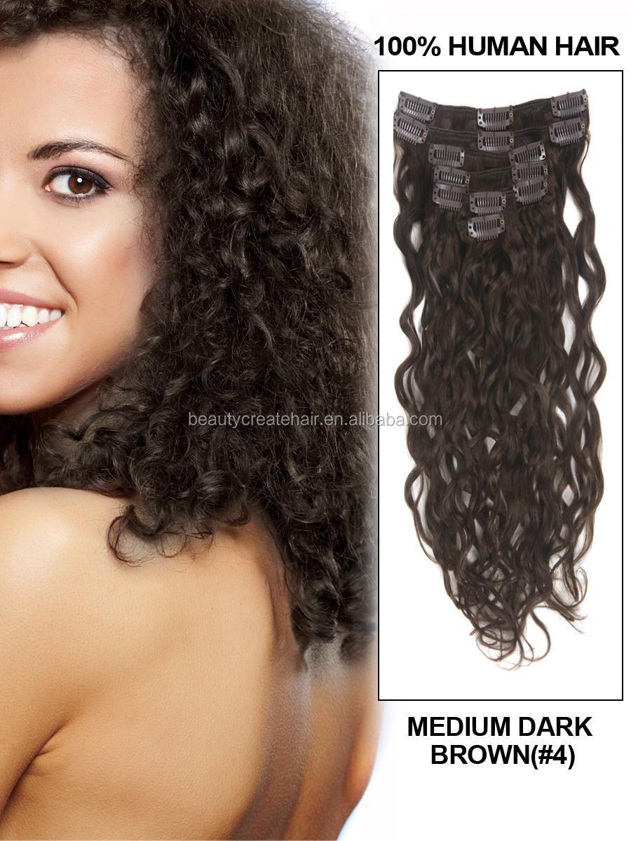henan xuchang long kinky curly remy hair clip in human hair extensions for black women