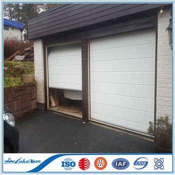 Single Panel Automatic Sectional Garage Door With Windows|Galvanized Steel  Material Sandwich Panel Door