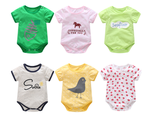 Wholesale New Born Baby Clothing Baby Toddler Clothing Organic Cotton Plain Baby Romper