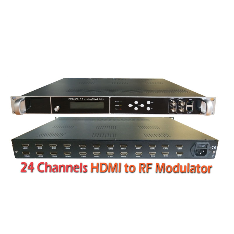 8 channel Digital TV Modulator H.264 HD Encoder Modulator DVB-C HD untuk RF Modulator DVB T2 ISDB