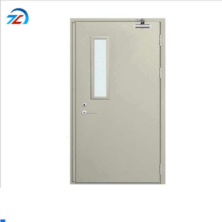 UL listed marine frameless metal fire rated glass doors with vision panel fire-proof door