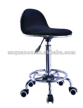 Good New Style Fabric Bar Stool Chair With Wheels QO 220 1