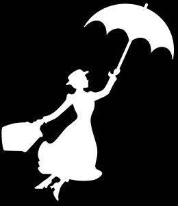 """Mary Poppins 6"""" White Car Truck Vinyl Decal Art Wall Sticker USA Classic Disney Movies Cute Awesome Fun Perfectly Perfect Adorable"""