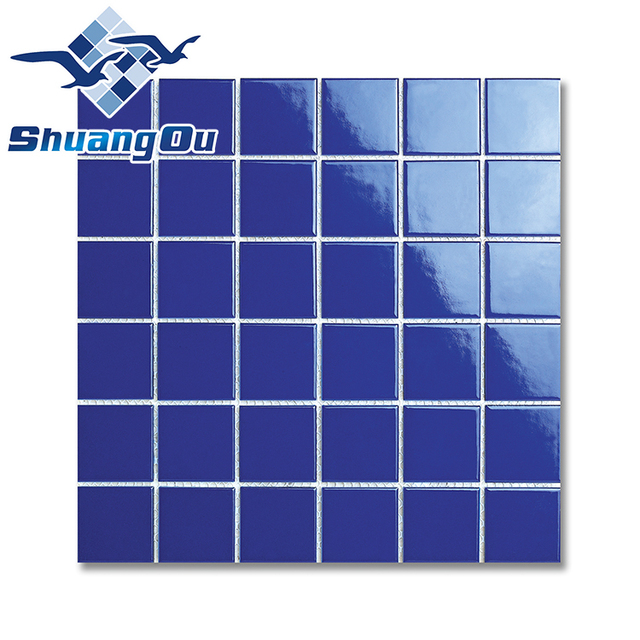 High Quality Originality Appearance Blue Mosaic Tiles For Pool Decoration