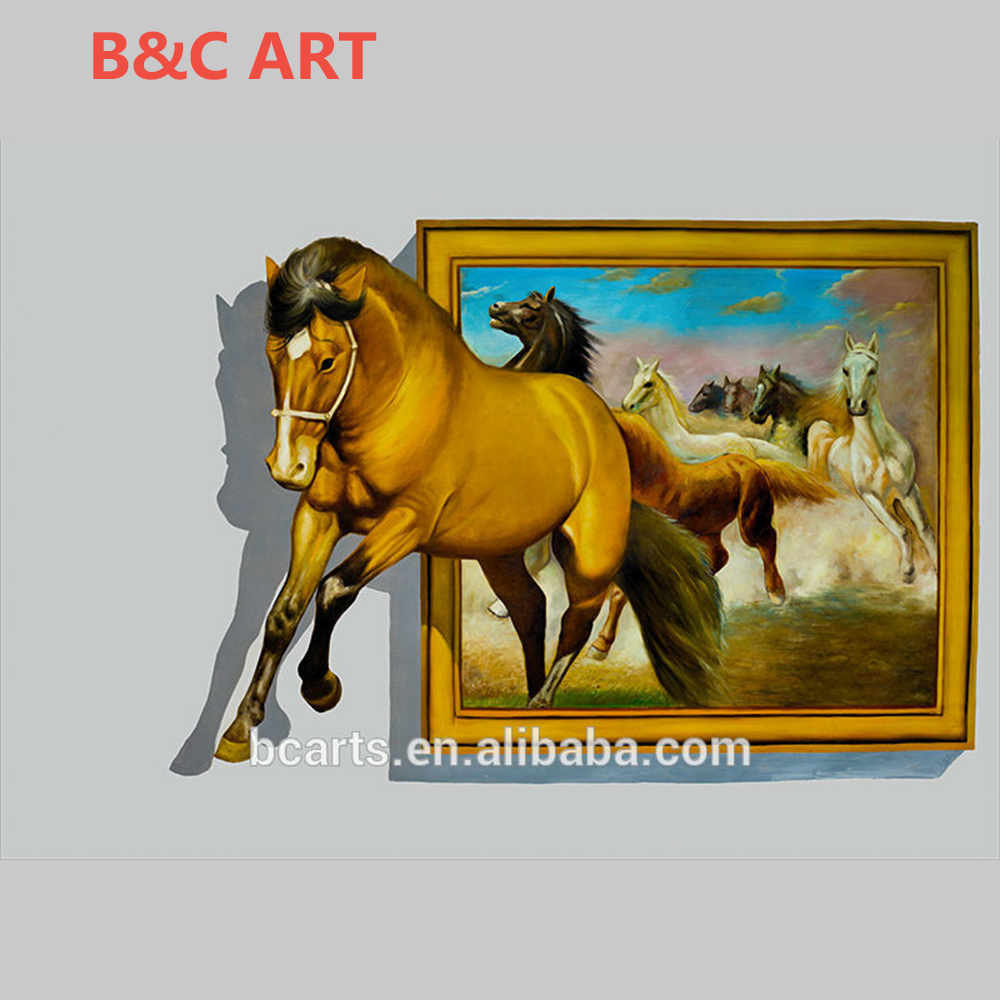 High Quality Animal Photos Running Horse Printing 3d Wall Art Canvas  Painting - Buy 3d Wall Art Canvas Painting,Running Horse Printing Art,High