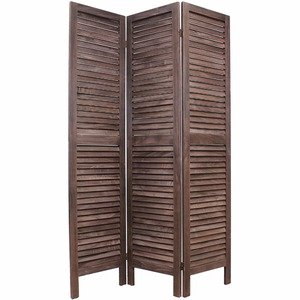 3 or 6 panel Wooden Slat Folding Room Divider