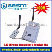 2012 hot sales big memory 2.4G wireless transmitter & receiver kits