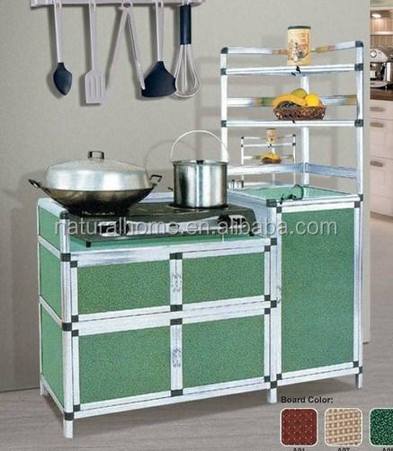 Aluminium Pintu Kabinet Dapur Lemari Rak Penyimpanan Laci Kayu Ktac 9085 Digunakan Cabinet