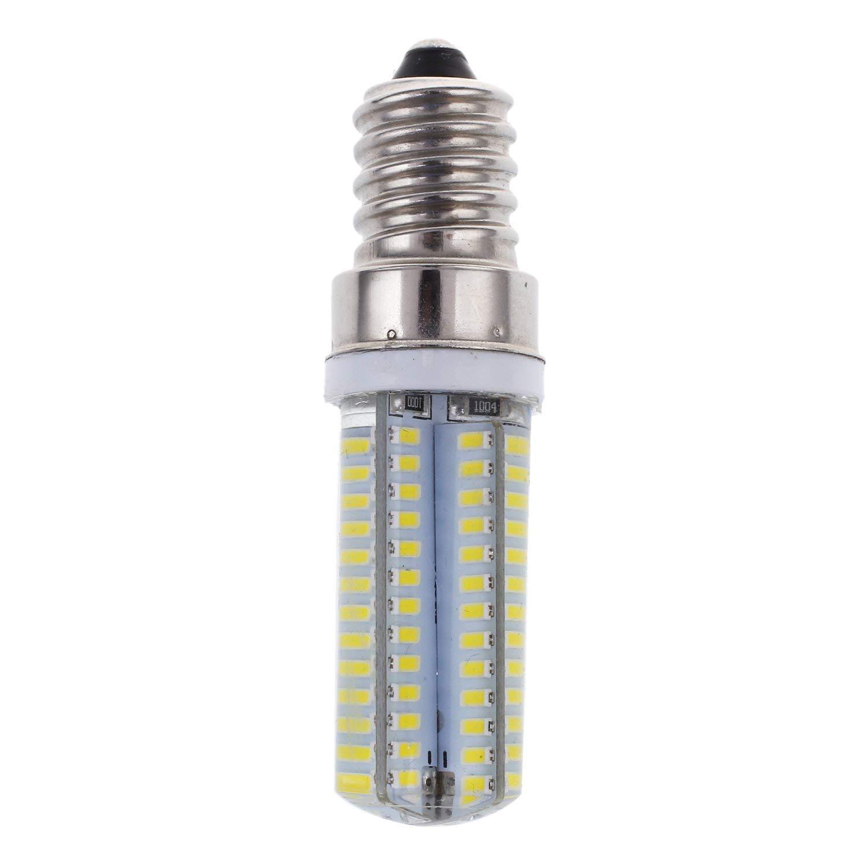SODIAL(R) Energy Saving E14 5W 3014SMD AC110V/220V White 104LED Corn Light Bulb 290-340LM 6000-7000K 4 pcs