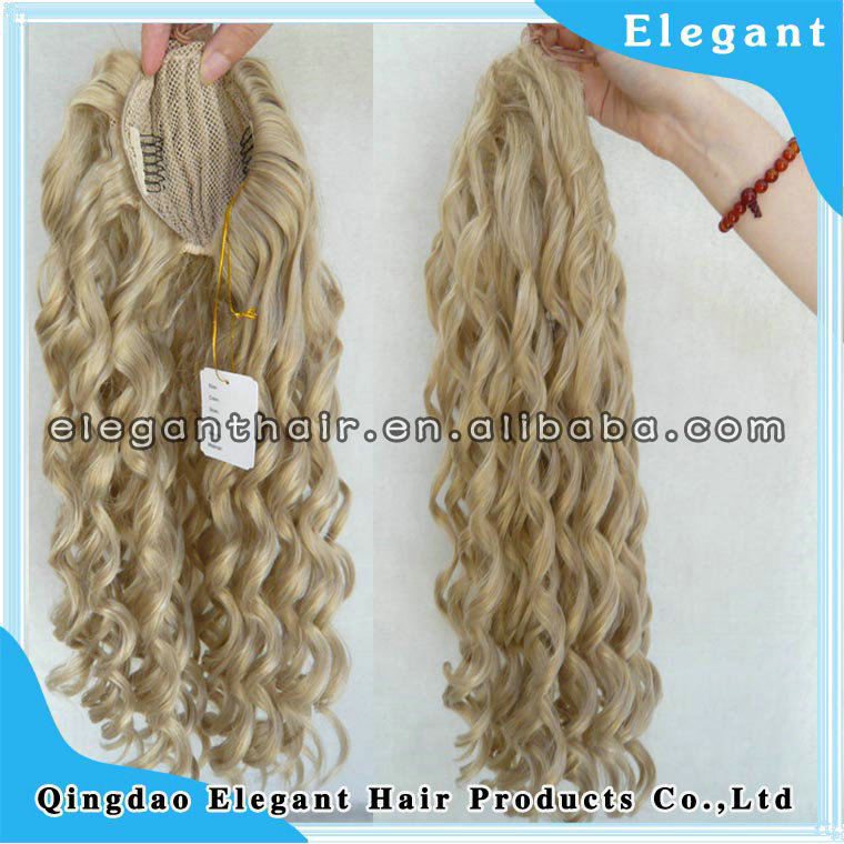 real hair white women human hair ponytail brazilian hair clip ponytail