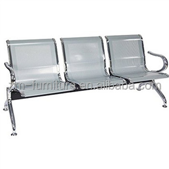 Foshan Public Chairs Airport Waiting Chair Seating (3 seats, Silver)
