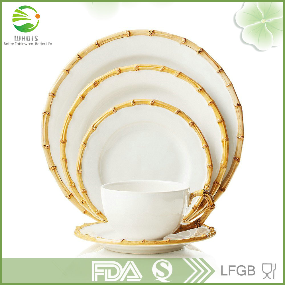 Lace Charger Plate,Bamboo side dish