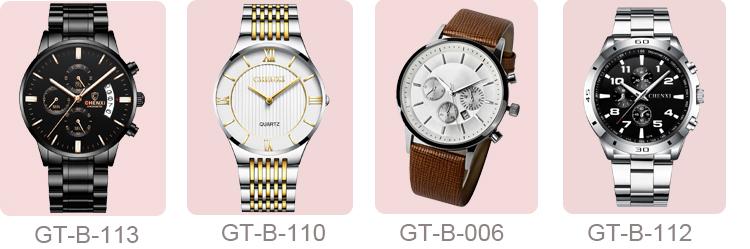 심천 공장 Custom Logo 금 Stainless Steel Chronograph Watch men 싼 price wristwatch