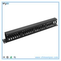 Horizontal Lid-type metel cable management bar for racks
