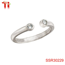 Dongguan Aohua Jewelry SSR30229 Sterling Silver and Crystal Midi Size 4 bulk sale ring