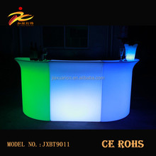 2017 new arrival straight led plastic portable bar counter furniture