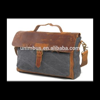 c0d4e246cc44 Wholesale beautiful fashion canvas messenger shoulder bag with trim leather  for business or school use