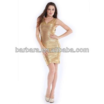 Barbara Gold Printing Cheap Plus Size Evening Dresses Outlet Bandage