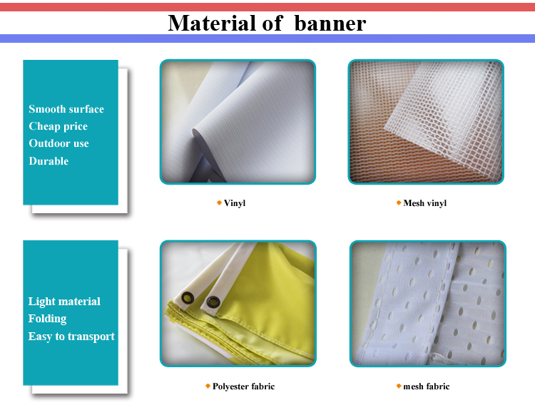 advertising use custom size fabric banner