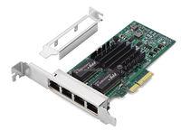 Intel I350-T4 PCI-E Server Network Card with 4 Gigabit nics Intel i350t4 Multi-port Network Adapter