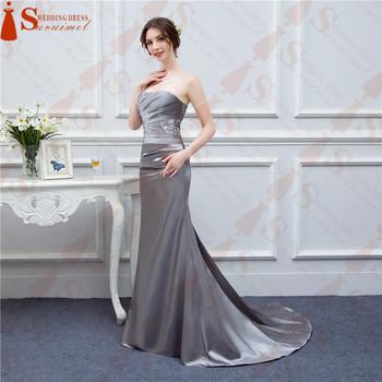Fotos Reales Cristales De Cuentas Plata Gris Vestidos De