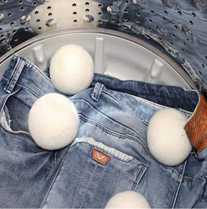 Essiccatore gomitoli di lana dryer balls organico lana merino dryer balls