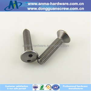 Countersunk Flat Head Snake Eyes Two Hole Security Screws