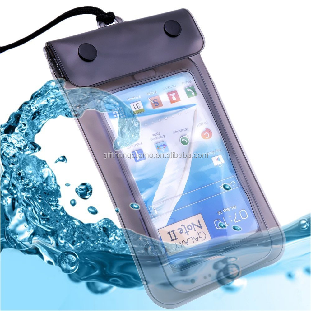 Ipx8 Promotional Gift Pvc Cell Phone Waterproof Bag For Mobile