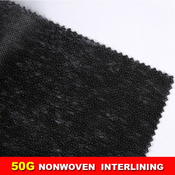 quality nonwoven paper fusible adhesive interlining 150cm width 200m/roll for clothing