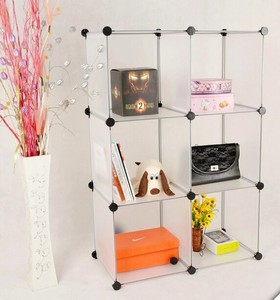 DIY plastic 6-cube home storage cube living room cabinets and shelves