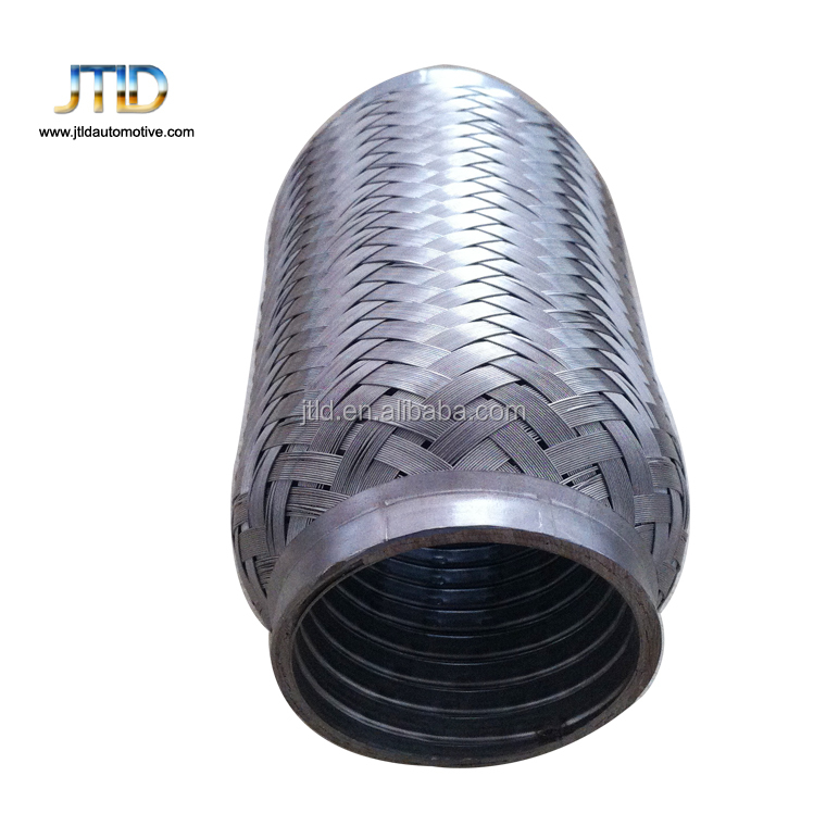 exhaust flexible pipe with interlock outer braid for small engine