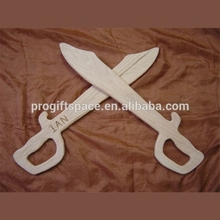 2018 Wooden sword of wood for little pirates made in China