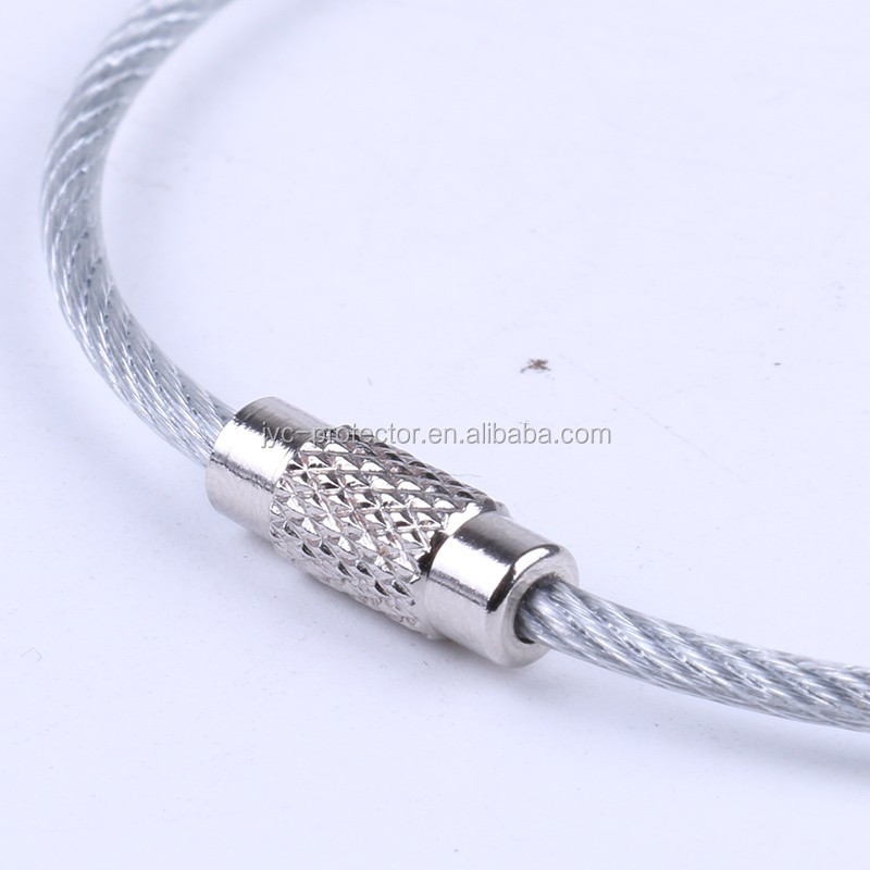 Stainless Steel Wire keychain key ring Cable Ring