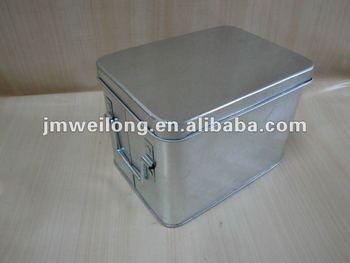 Galvanized Metal Storage Box