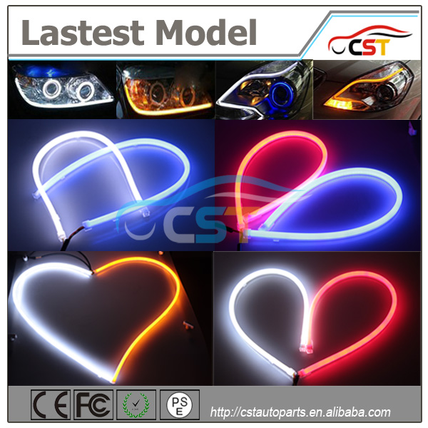 2016 Wholesale Motor parts accessories flexible led car neon light tear strip led daytime running light for car bus truck