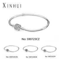 Wholesale 925 sterling silver DIY beads charm bracelets fit pandoras 925 silver