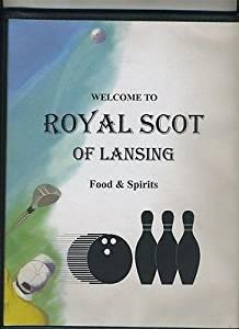 Royal Scot of Lansing Bowling Alley Menu Michigan 1990's