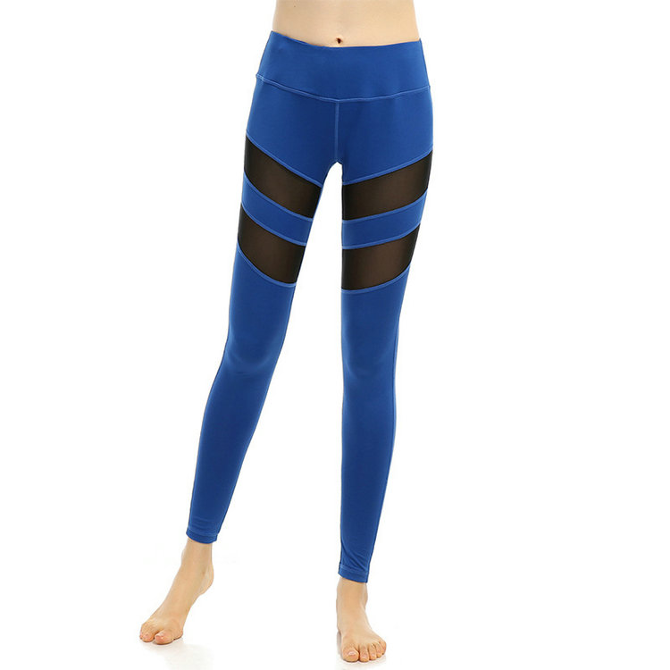 European and American Fitness Sexy Blue Yoga Capris Large Plus Size Yoga Pants for Women