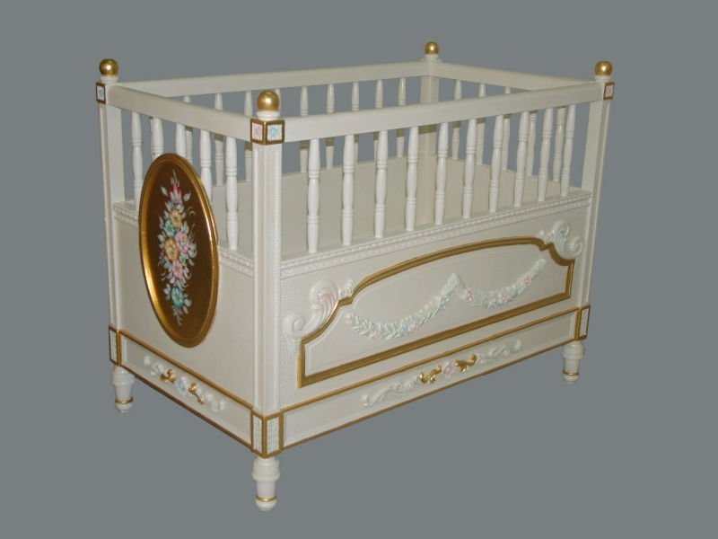 product detail italian classic design furniture french baby bed green wooden bad