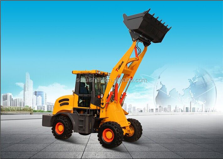 China mini wheel loader ZLY918 with hydraulic transmission system