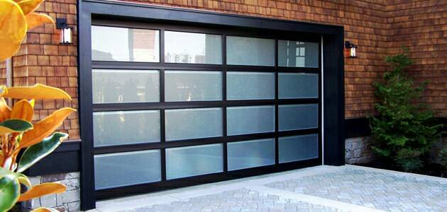 Black Aluminum Frame Glass Garage Door Price Lowes Shenzhen