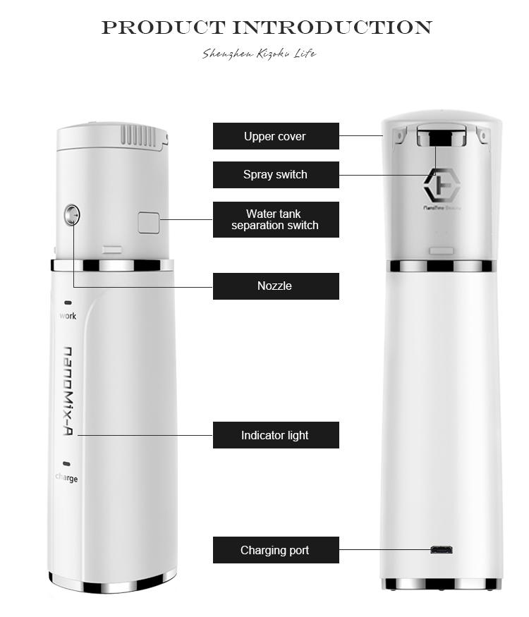 2020 new arrivals beauty skincare cosmetic lotion toner portable facial spray nano mist sprayer for face care