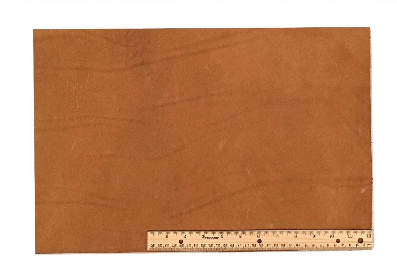 "Scrap Lace Leather Light Brown Cowhide 12"" X 18"" Piece"