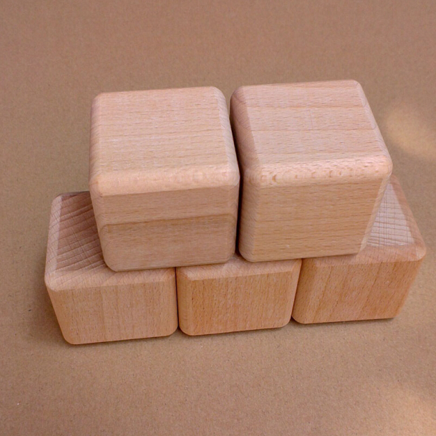 well polished beech wood block 2 inch wood cubes natural custom wood blocks