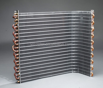 Finned Copper Tube L Condenser Coil For Air Conditioner