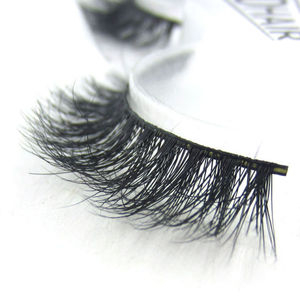 3D Natural Look Faux Mink Silk Eye Lash False Eyelashes Extension With Strong Band