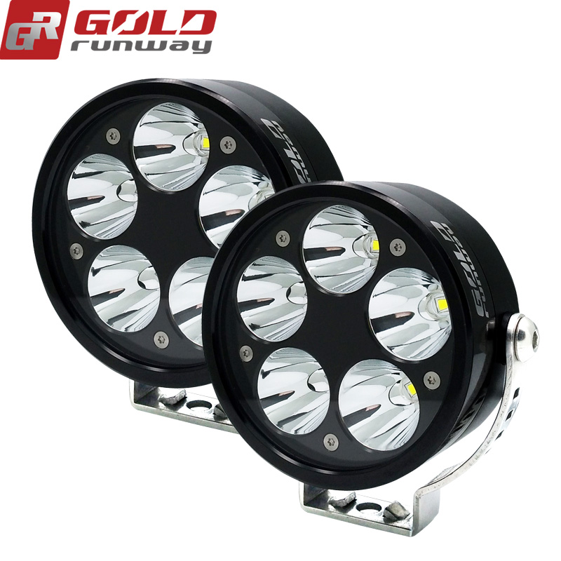 GOLDRUNWAY 50W motorcycle spotlights auxiliary lamp bright U3 led chip motobike headlights accessories moto car work fog light