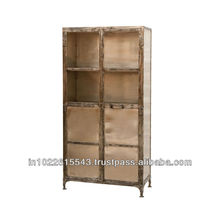 Industrial vintage furniture metal cabinet